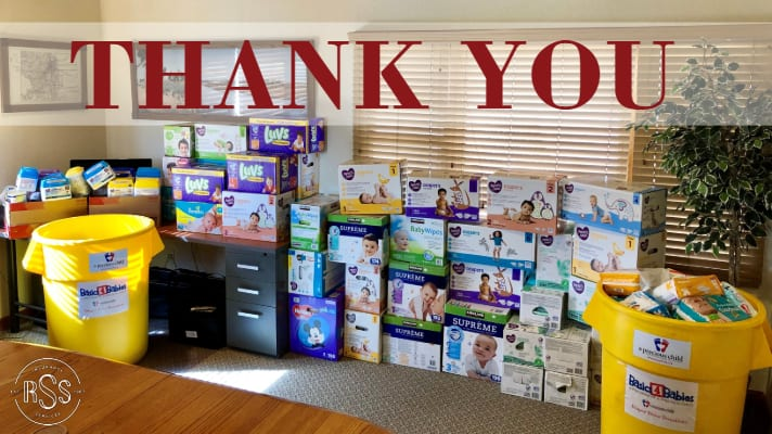 Thank You for Supporting Our Diaper Drive to Benefit A Precious Child