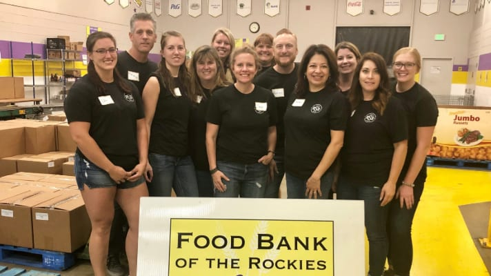 RSS Packs Almost Three Tons of Food for Food Bank of the Rockies!